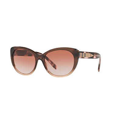 Burberry BE4224 Cat's Eye Sunglasses, Camel/Sand