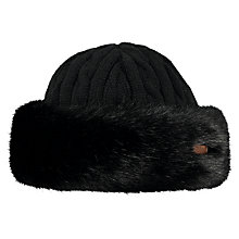 Buy Barts Faux Fur Cable Bandhat, One Size, Black Online at johnlewis.com