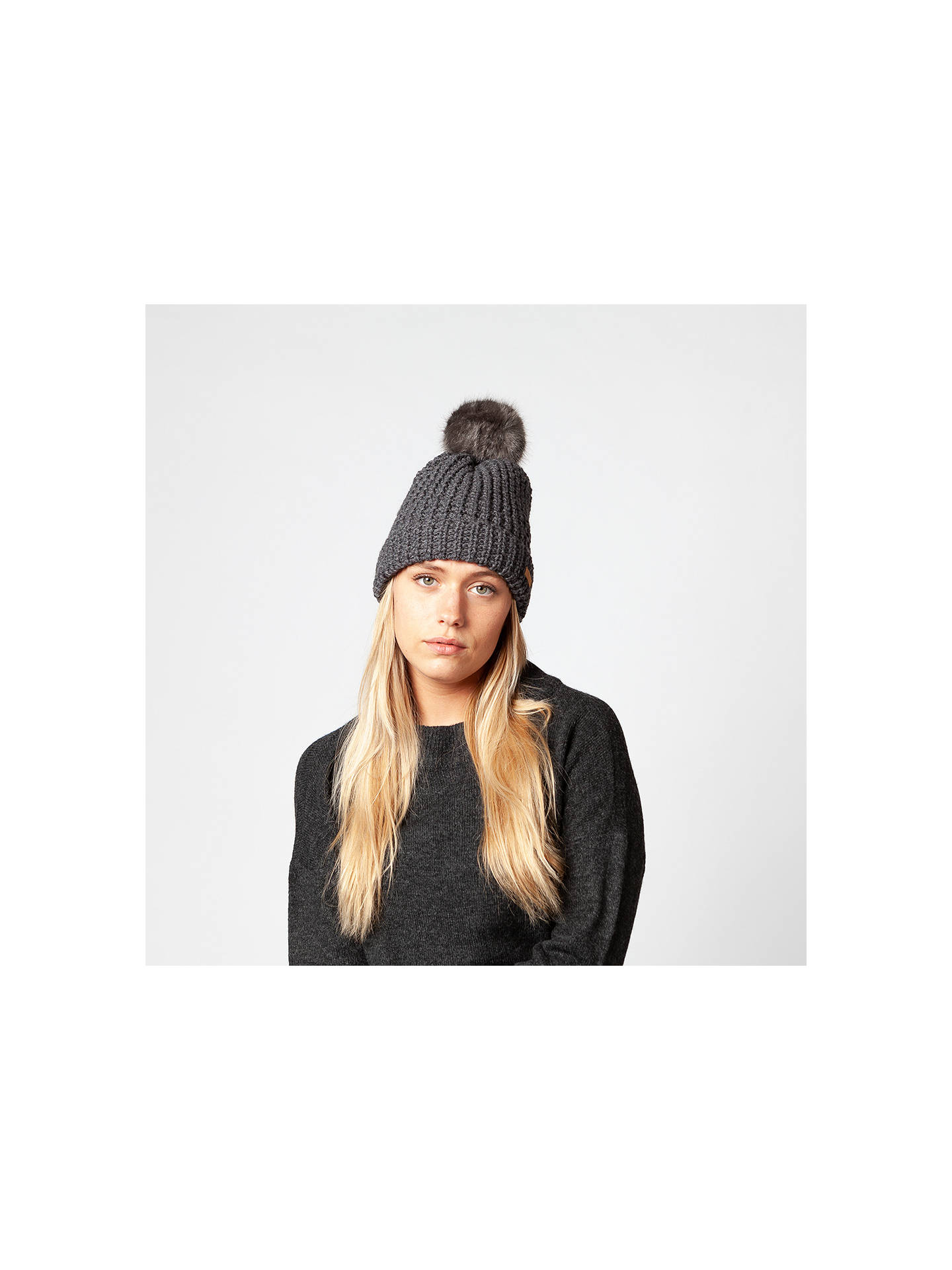 Buy Barts Bonnie Beanie Hat, One Size, Dark Grey Heather Online at johnlewis.com