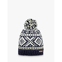 Buy Barts Log Cabin Beanie, One Size, Navy Online at johnlewis.com