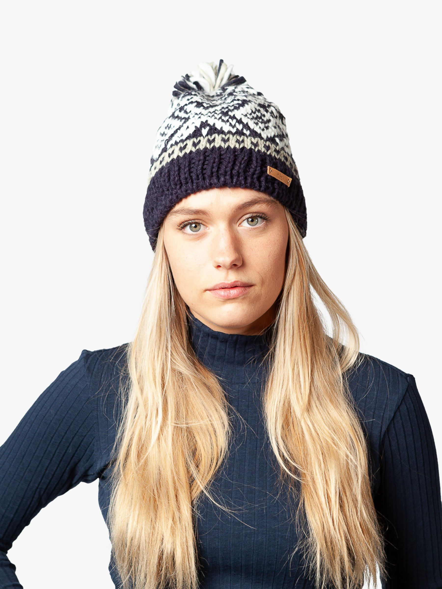 Barts Barts Log Cabin Beanie, One Size, Navy