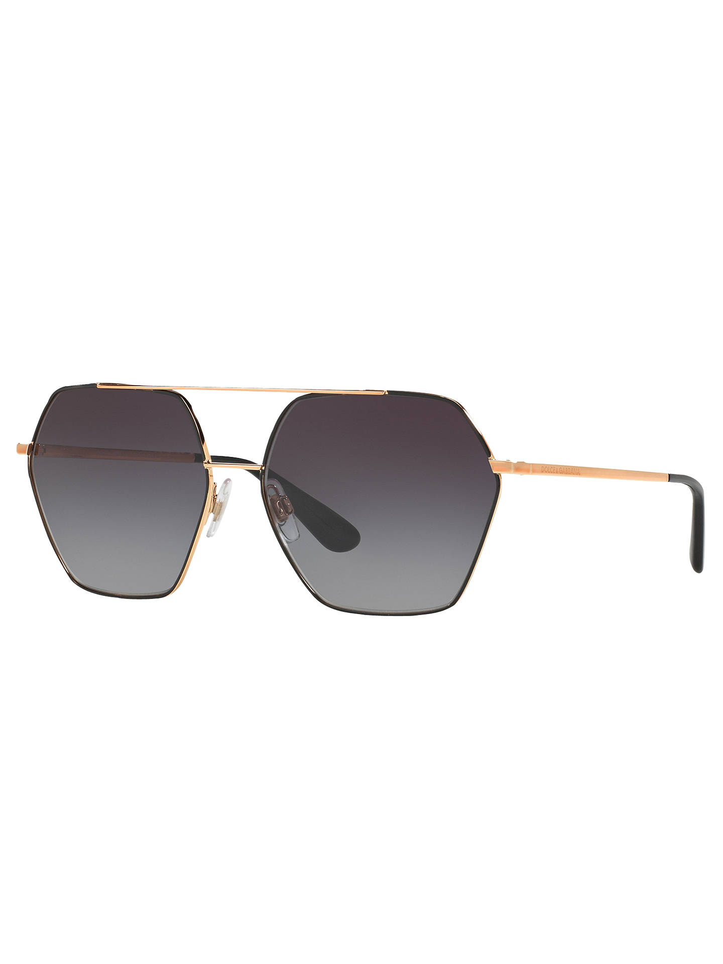 ed2fb17d36257 Dolce   Gabbana DG2157 Hexagonal Sunglasses at John Lewis   Partners