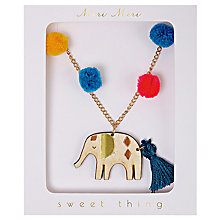 Buy Meri Meri Children's Elephant Necklace Online at johnlewis.com