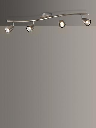 John Lewis & Partners Thea GU10 LED 4 Spotlight Ceiling Bar