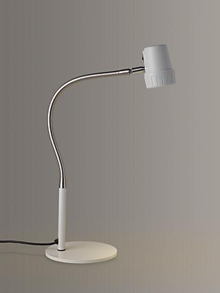 Serious Readers Alex LED Desk Lamp, White/Nickel