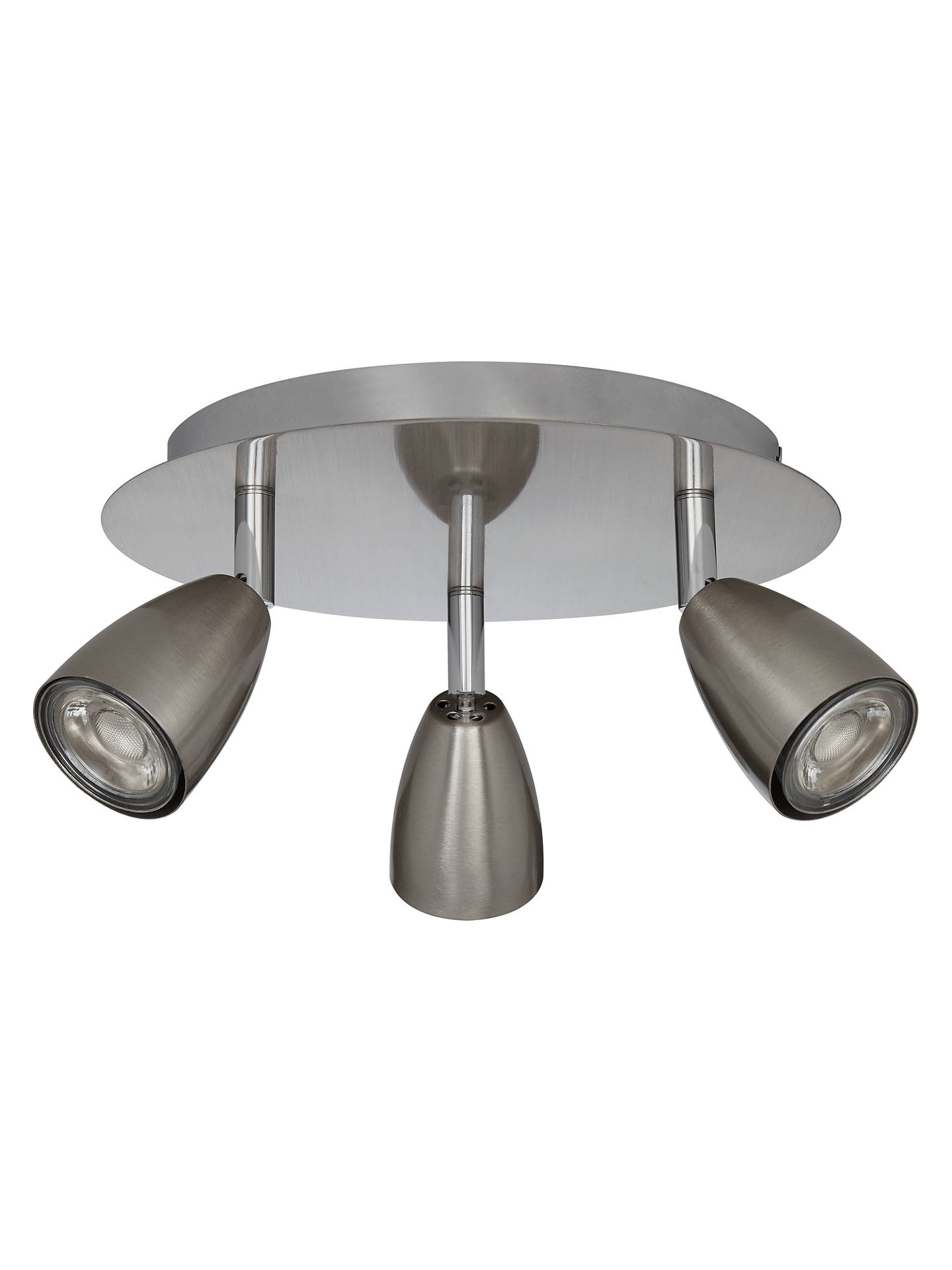 BuyJohn Lewis & Partners Thea GU10 LED 3 Spotlight Ceiling Plate, Chrome Online at johnlewis.com