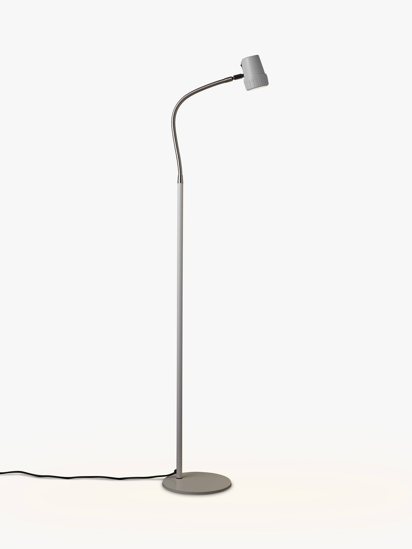 Buy Serious Readers Alex Dimmable LED Floor Lamp, White/Nickel Online at johnlewis.com