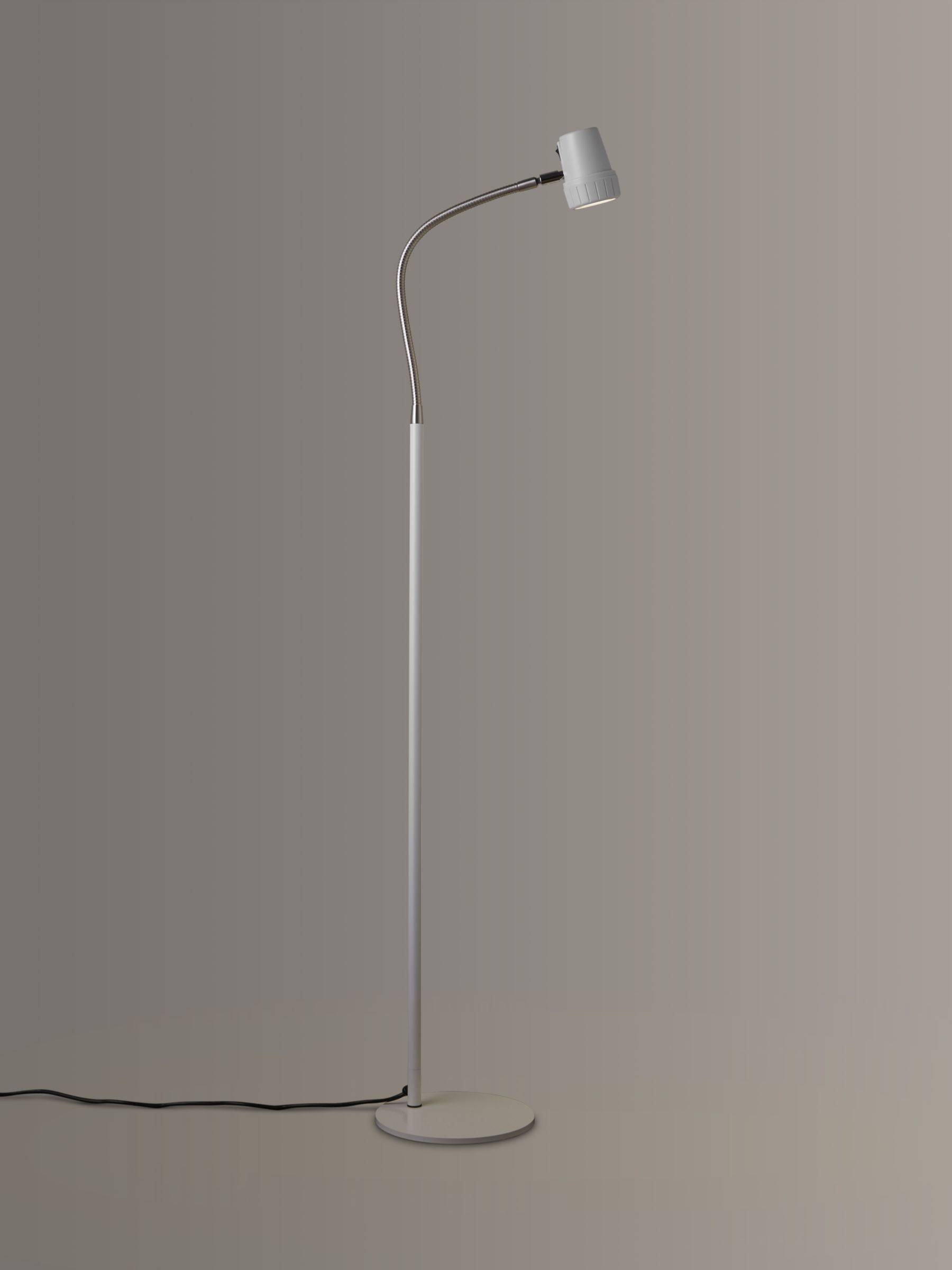 Serious Readers Serious Readers Alex Dimmable LED Floor Lamp, White/Nickel