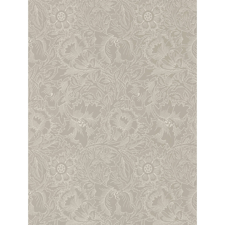 Pure Poppy Wallpaper Dove Chalk DMPU216032 Online At Johnlewis