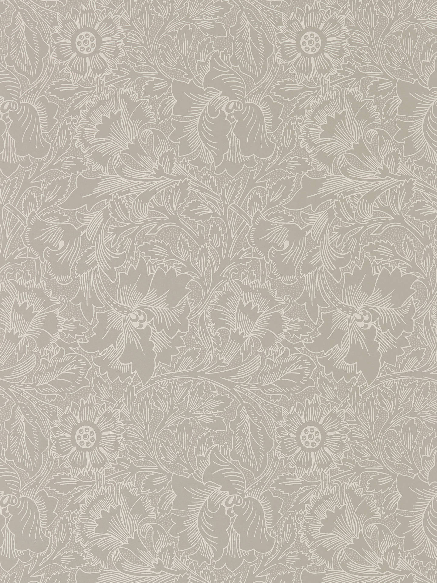 Buy Morris & Co. Pure Poppy Wallpaper, Dove / Chalk DMPU216032 Online at johnlewis.com