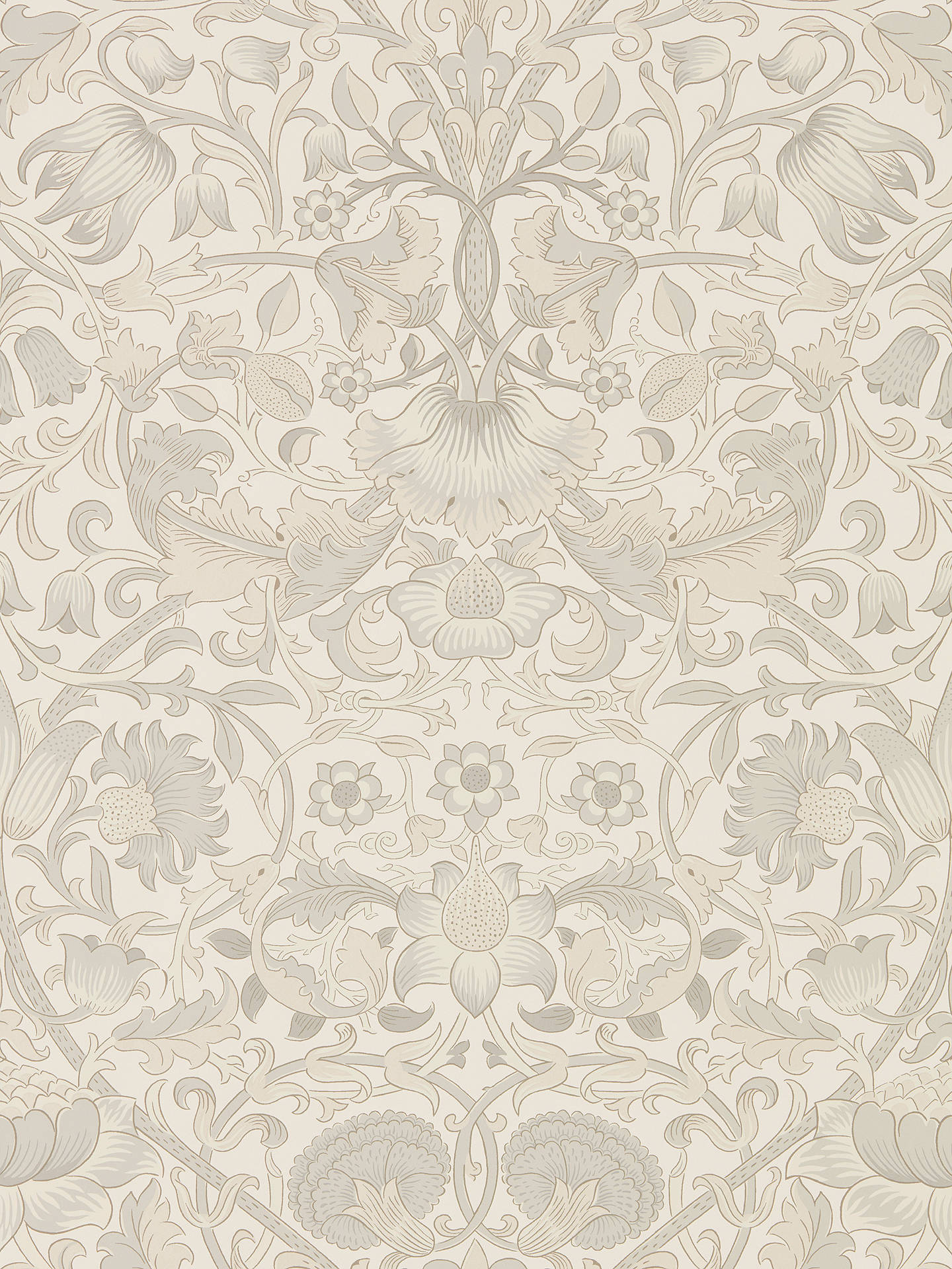 Buy Morris & Co. Pure Lodden Wallpaper, Chalk / Eggshell DMPU216030 Online at johnlewis.com