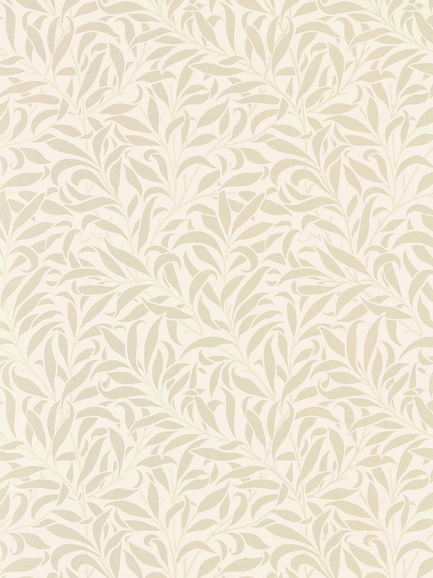 BuyMorris & Co. Pure Willow Bough Wallpaper, Ivory / Pearl DMPU216022 Online at johnlewis.com