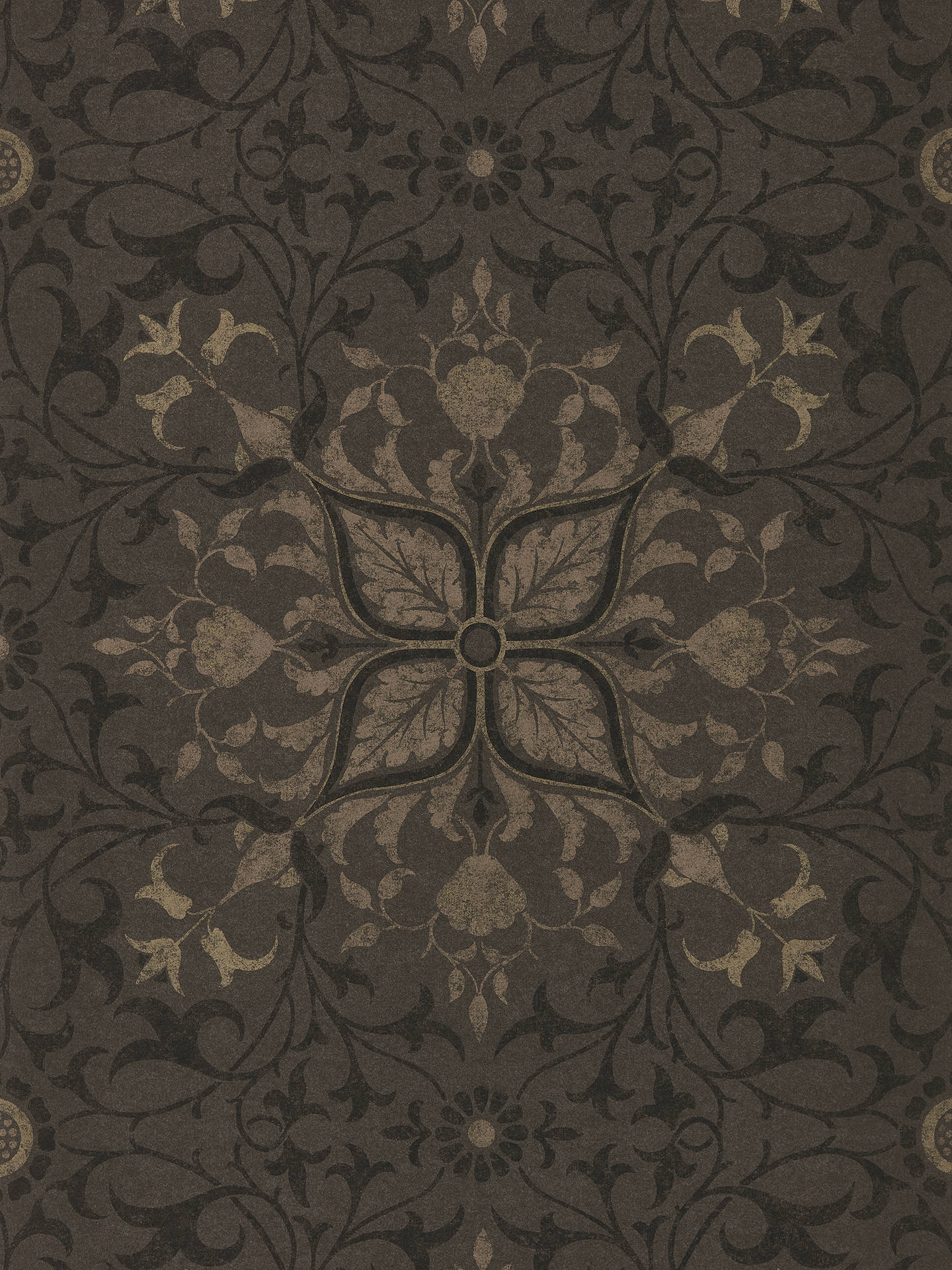 Buy Morris & Co. Pure Net Ceiling Wallpaper, Charcoal / Gold DMPU216036 Online at johnlewis.com