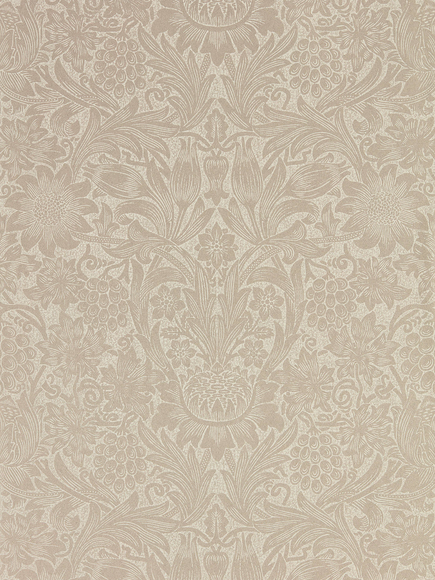 Buy Morris & Co. Pure Sunflower Wallpaper, Pearl / Ivory DMPU216048 Online at johnlewis.com