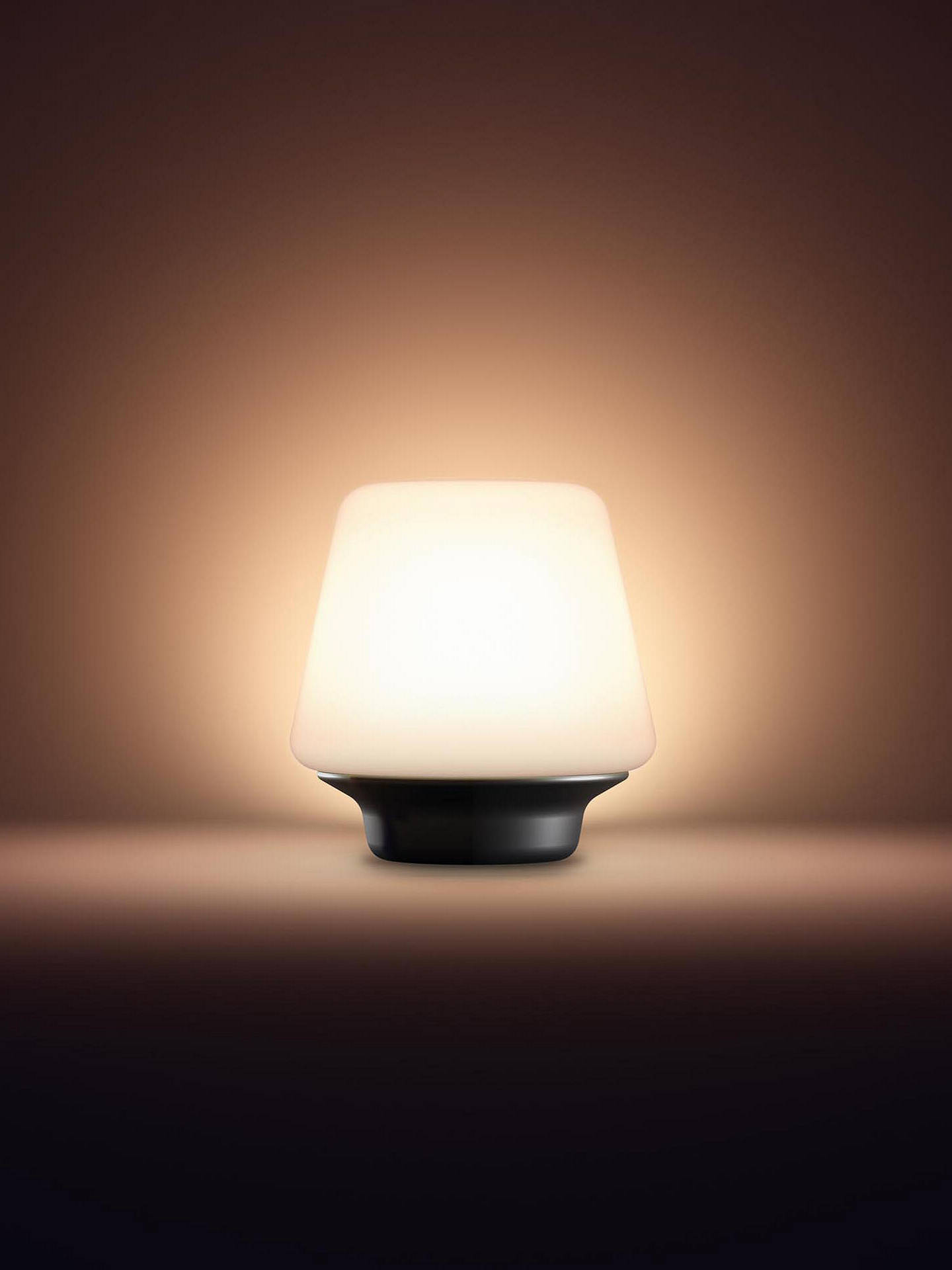 Philips Hue Ambient Wellness Table Lamp White Black At John Lewis