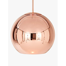 Buy Tom Dixon Ceiling Light, Copper, Dia 46cm Online at johnlewis.com