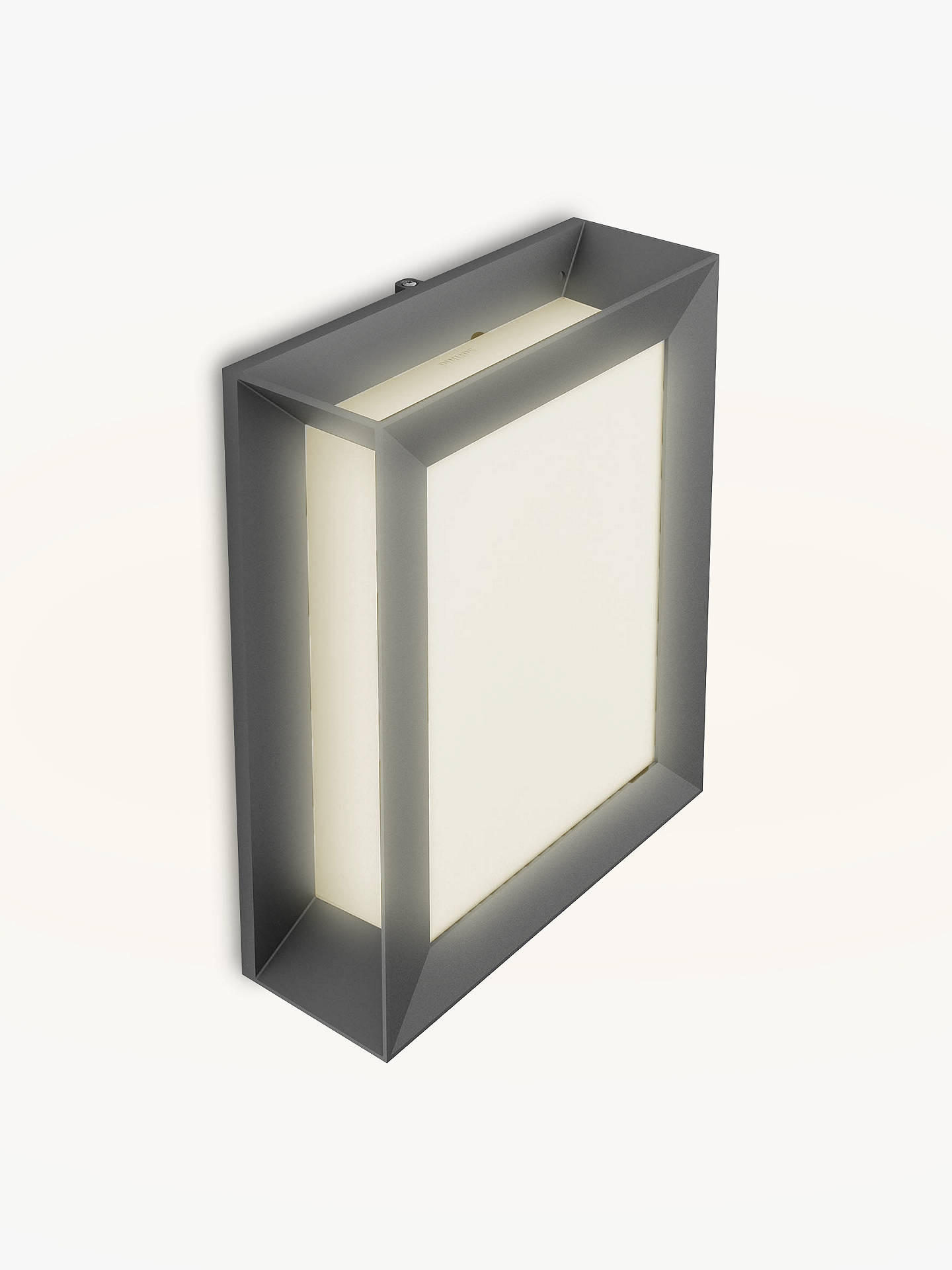BuyPhilips Karp LED Outdoor Wall Light, Anthracite Online at johnlewis.com