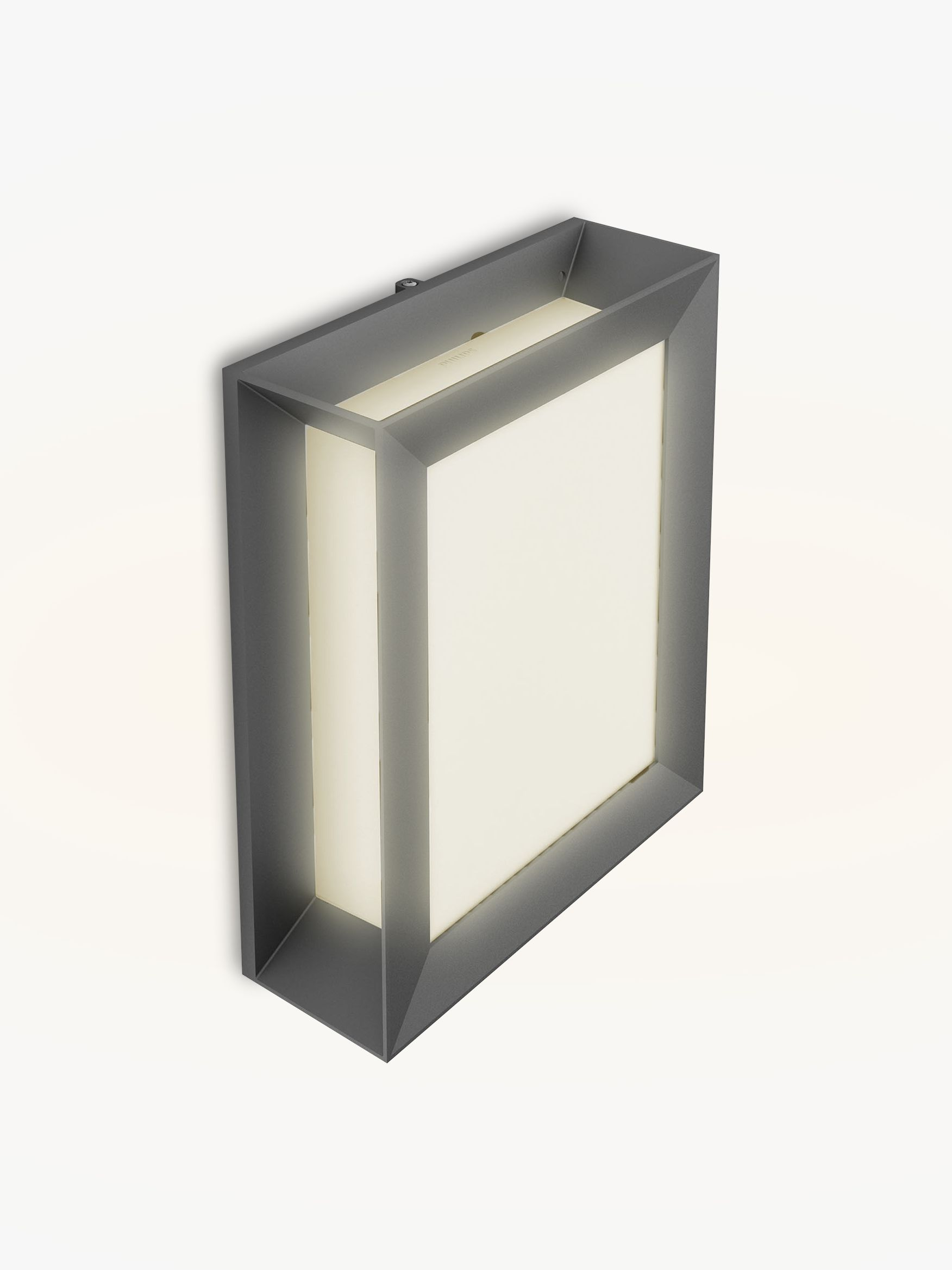 Anthracite Garden Wall Lights : Buy Philips Karp LED Outdoor Wall Light, Anthracite John Lewis