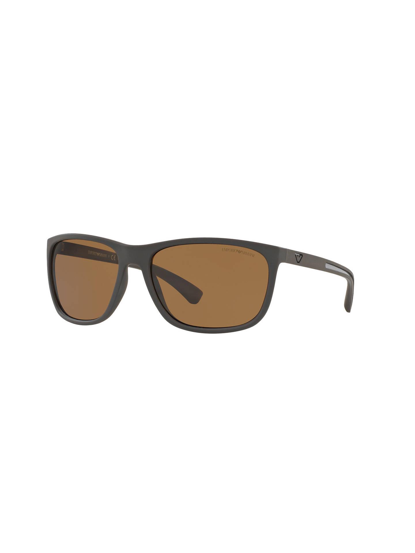 b19e6067513 Buy Emporio Armani EA4078 Polarised Rectangular Sunglasses
