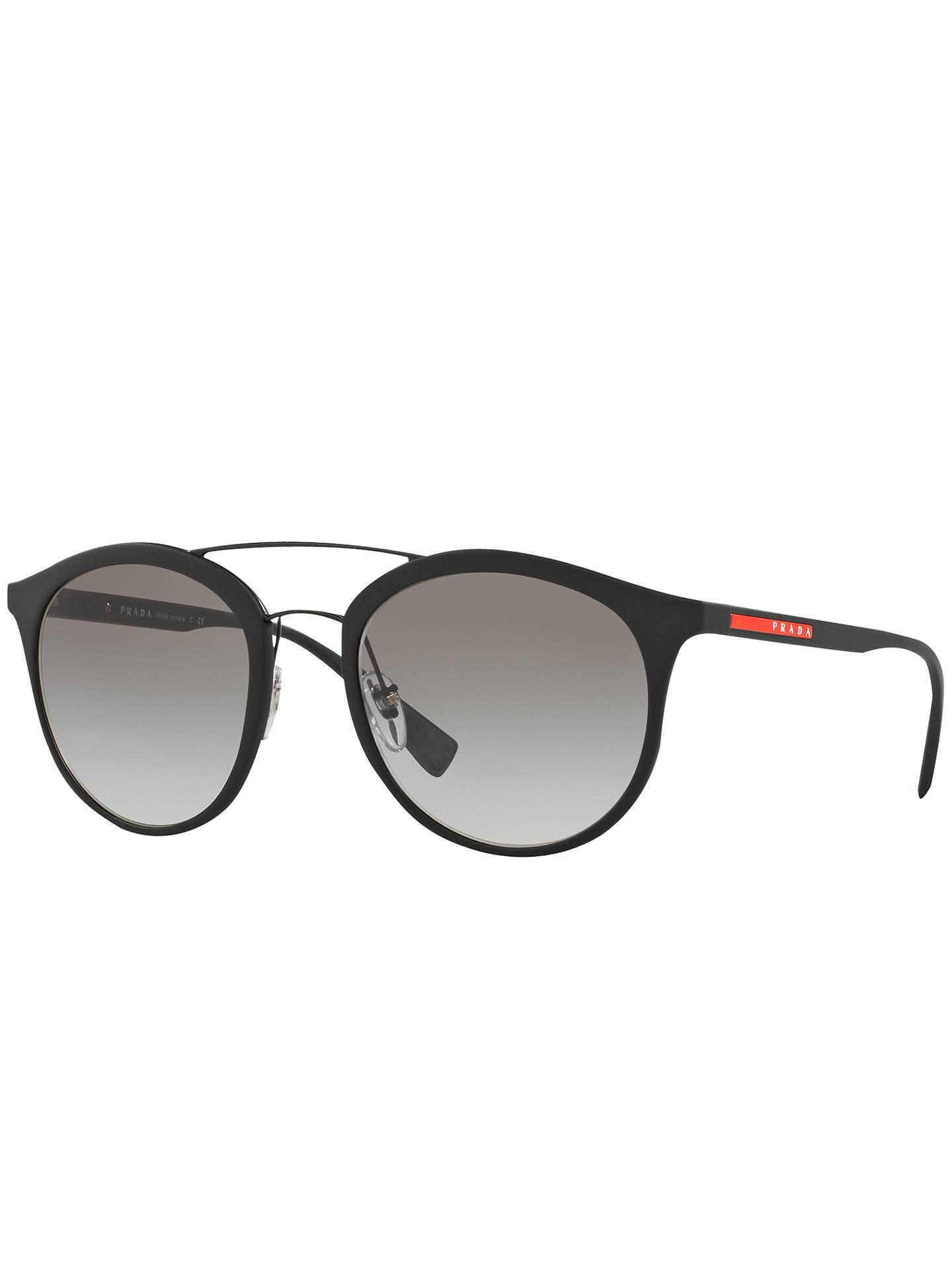 f17c0d0b36be Buy Prada Linea Rossa PS 04RS Oval Sunglasses, Black/Grey Gradient Online  at johnlewis ...