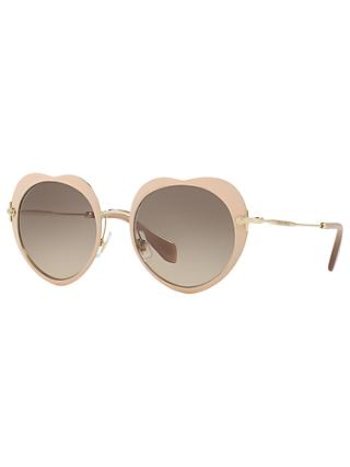 Miu Miu MU 54RS Oval Sunglasses