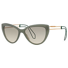 Buy Miu Miu MU 12RS Cat's Eye Sunglasses, Celadon/Green Gradient Online at johnlewis.com