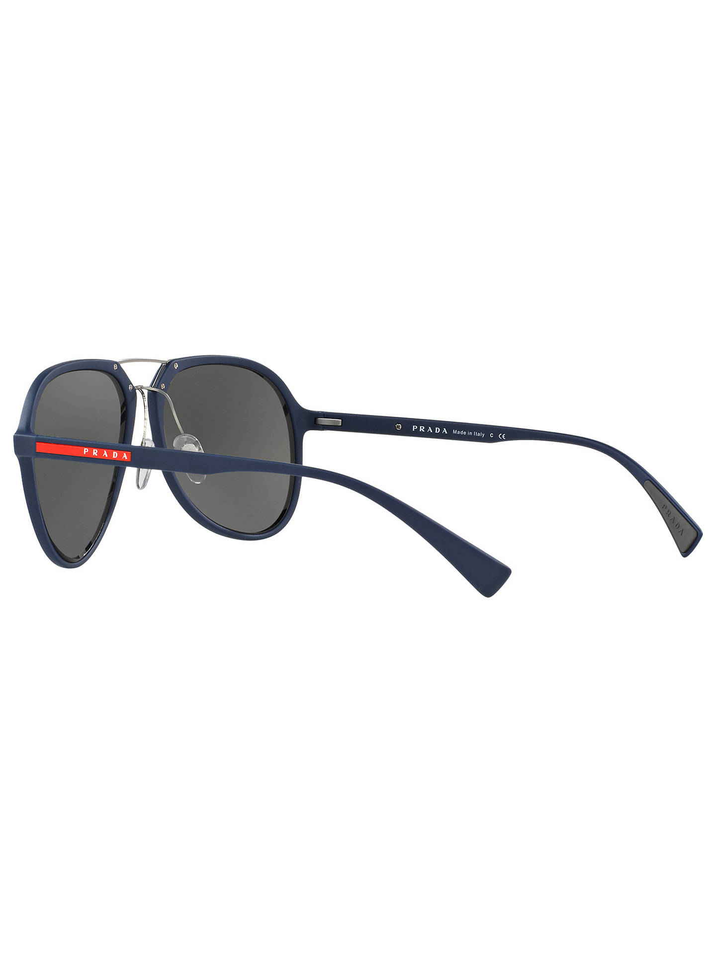 2a85aa5f31 ... clearance buyprada linea rossa pr05rs round framed sunglasses silver  online at johnlewis 4fc20 1bfd8