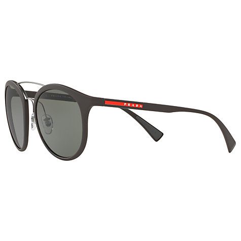 Buy Prada Linea Rossa PS 04RS Polarised Oval Sunglasses Online at johnlewis.com
