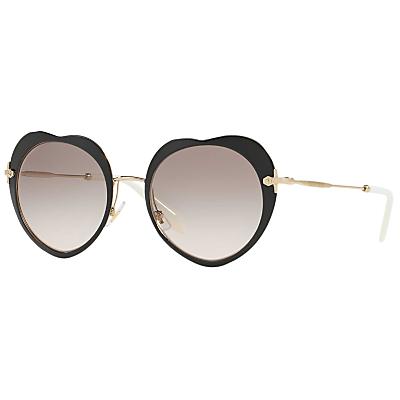 Miu Miu MU 54RS Oval Sunglasses