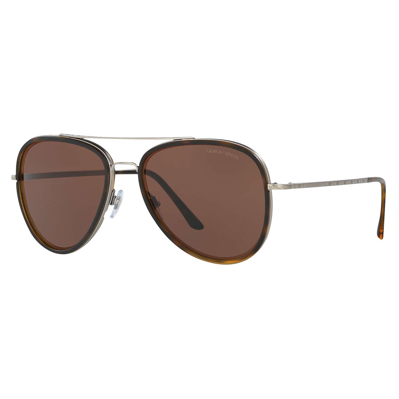 Giorgio Armani AR6039 Frames of Life Aviator Sunglasses, Tortoise at ...