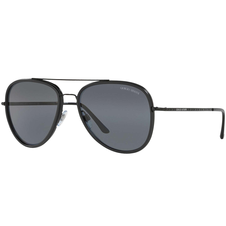 Giorgio Armani AR6039 Polarised Frames of Life Aviator Sunglasses ...