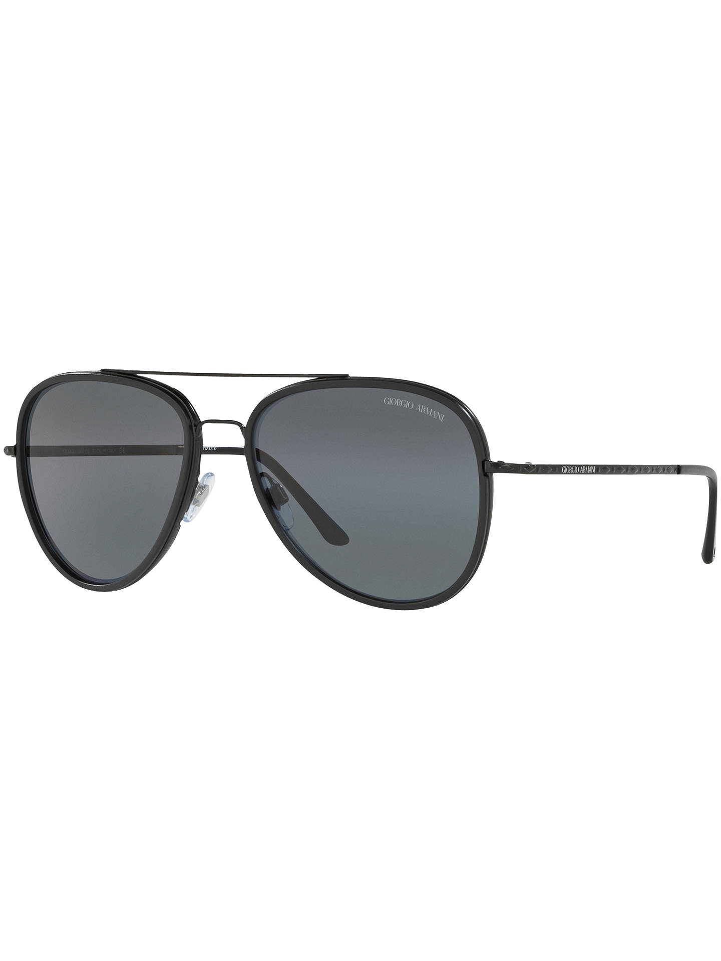 Giorgio Armani AR6039 Polarised Frames of Life Aviator Sunglasses ...