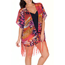 Buy Chesca Animal Print Kimono, Pink/Purple Online at johnlewis.com