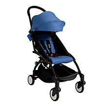 Buy Babyzen Yoyo+ Pushchair, Newborn Pack and Footmuff Bundle, Black/Blue Online at johnlewis.com