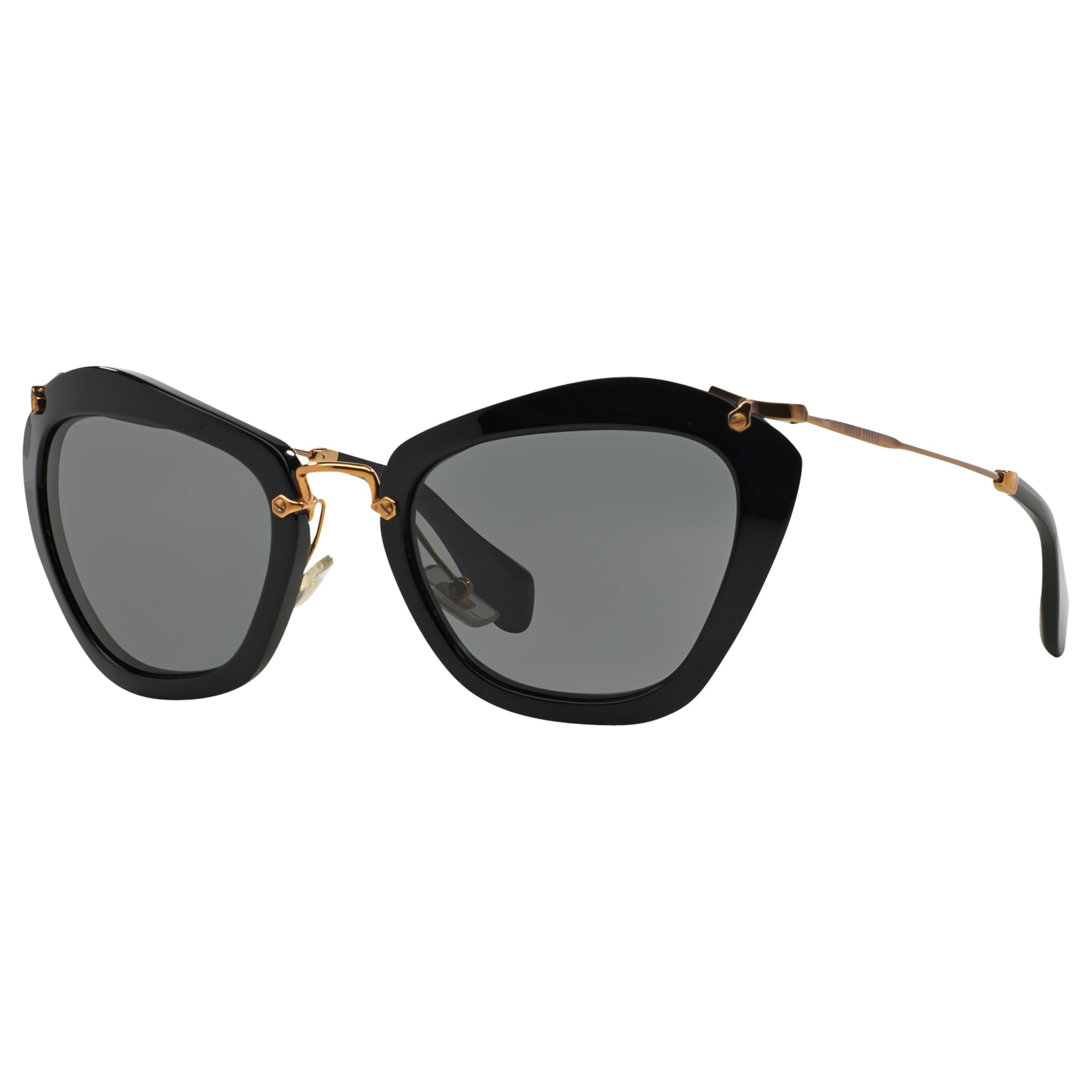 Miu Miu Miu Miu MU10NS Cat's Eye Sunglasses, Black