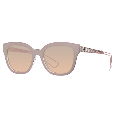 Christian Dior Diorama1 Embellished Cat's Eye Sunglasses, Nude/Pink Gradient