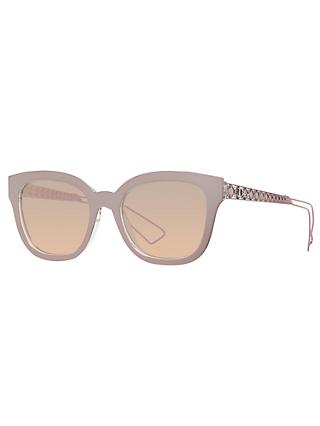Dior Diorama1 Embellished Cat's Eye Sunglasses, Nude/Pink Gradient