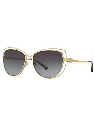 5e4c13113d10 Michael Kors MK1013 Audrina I Cat's Eye Sunglasses, Gold/Silver