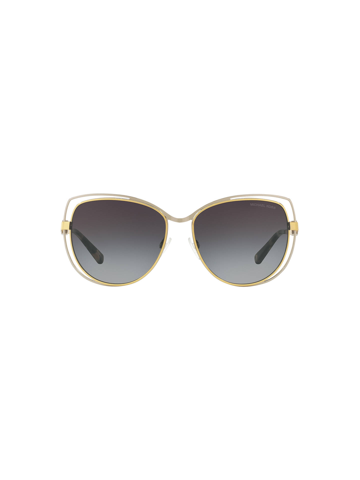 BuyMichael Kors MK1013 Audrina I Cat's Eye Sunglasses, Gold/Silver Online at johnlewis.com
