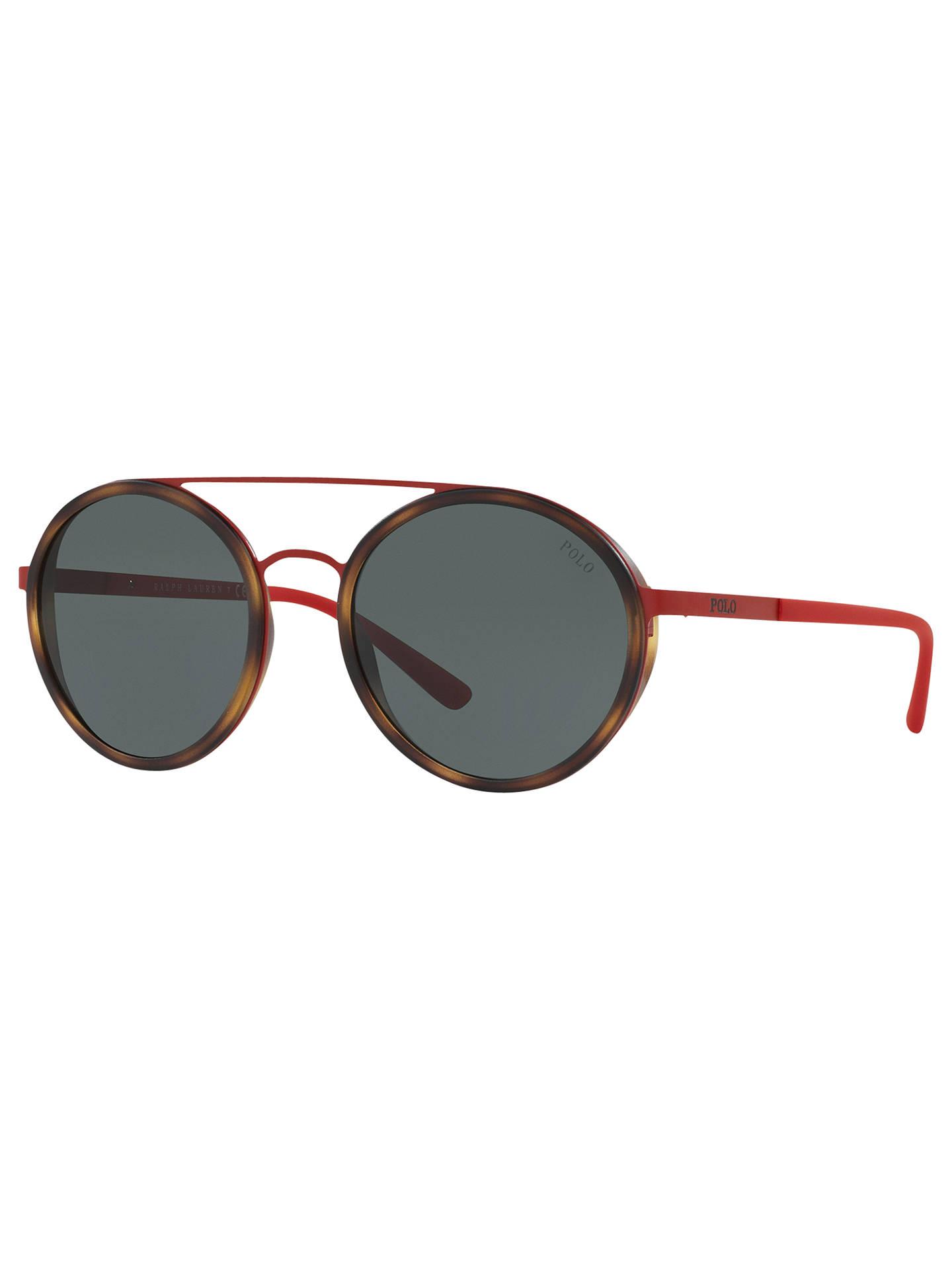 25cc23ed7 Buy Polo Ralph Lauren PH3103 Round Sunglasses, Red Online at johnlewis.com  ...