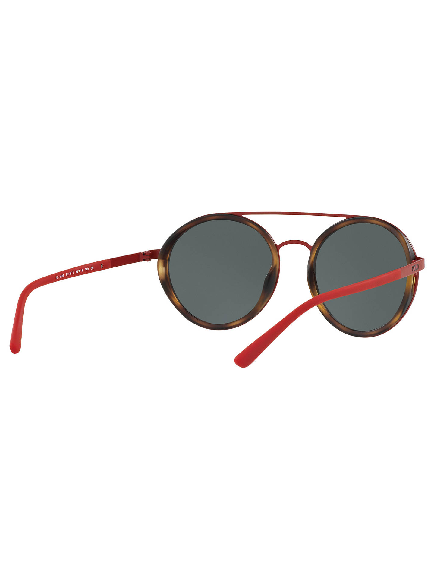 BuyPolo Ralph Lauren PH3103 Round Sunglasses, Red Online at johnlewis.com