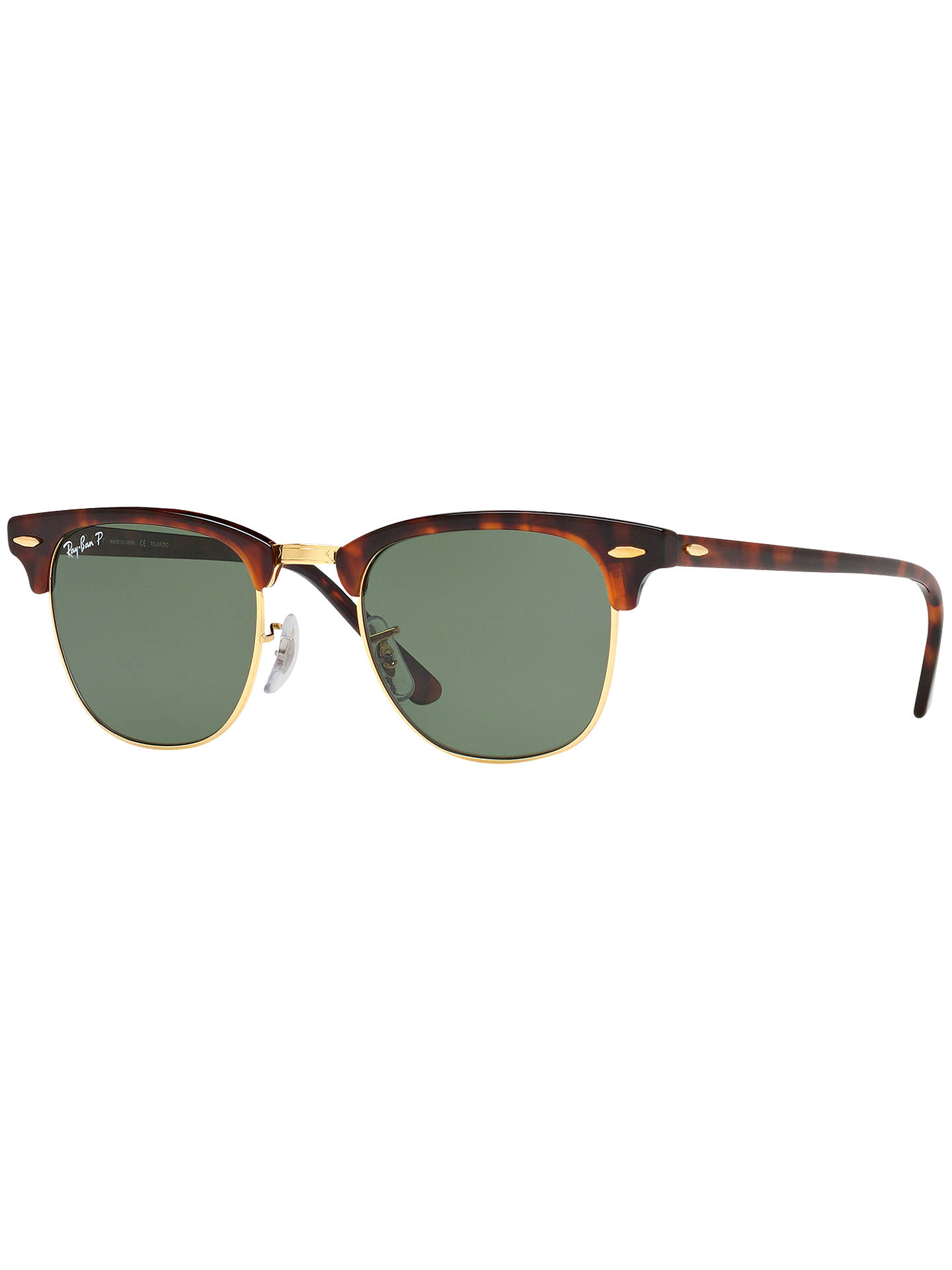 f71df78b68 Ray-Ban RB3016 Men s Polarised Clubmaster Sunglasses at John Lewis ...
