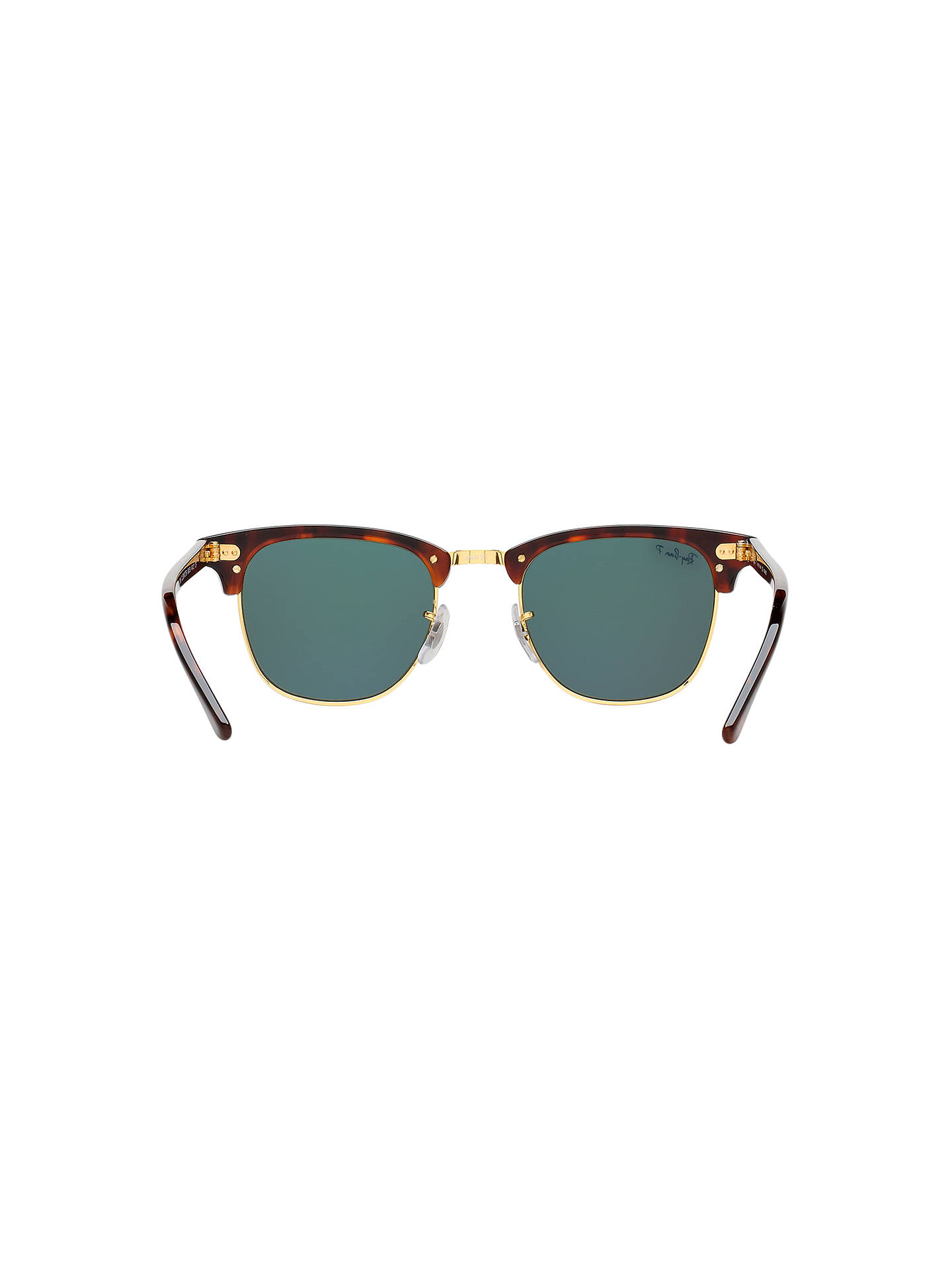 57bd755486a4 ... Buy Ray-Ban RB3016 Men's Polarised Clubmaster Sunglasses, Tortoise/Dark  Green Online at ...
