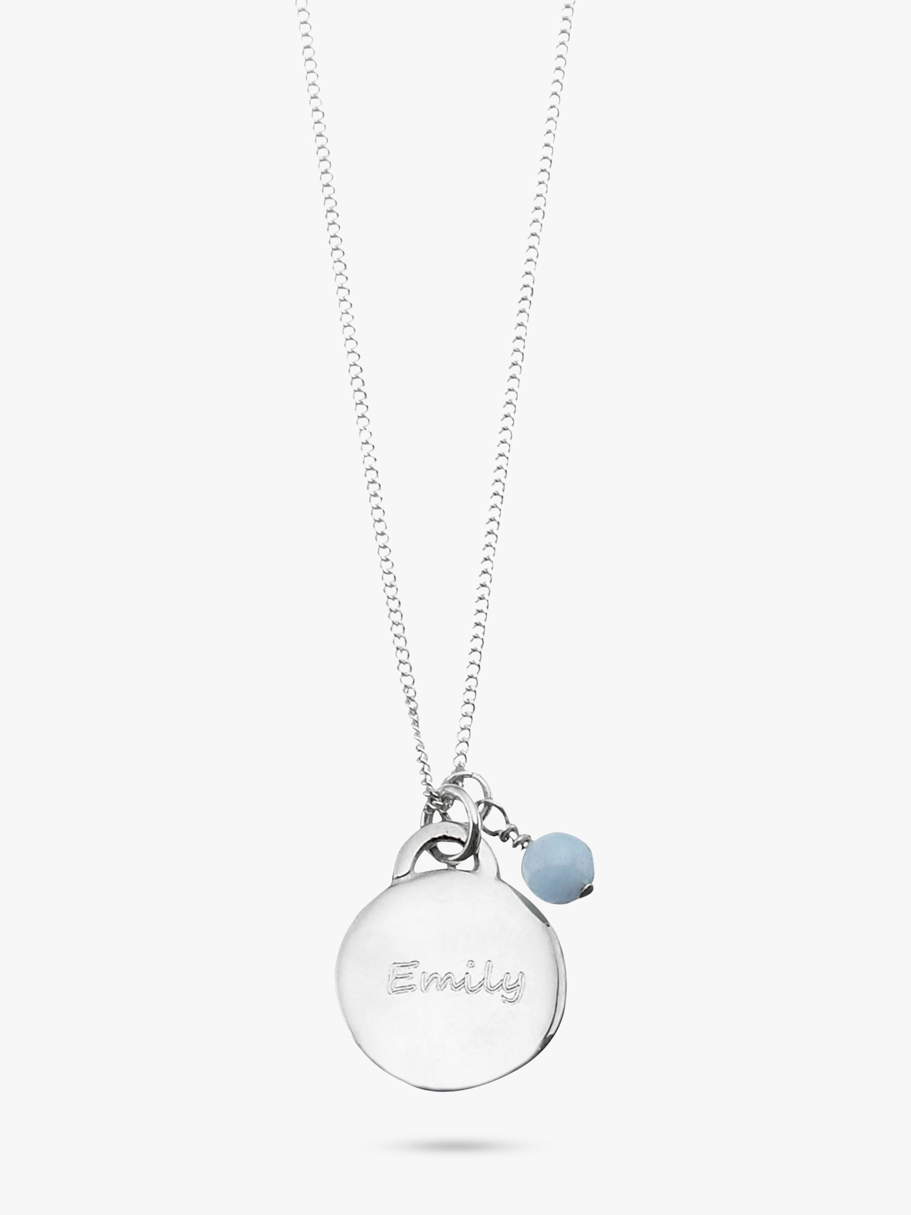 Under The Rose Under the Rose Personalised Birthstone Pendant Necklace