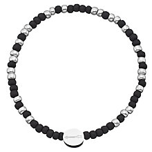 Buy Under the Rose Morse Code 'Always' Bead Bracelet, Black/Silver Online at johnlewis.com