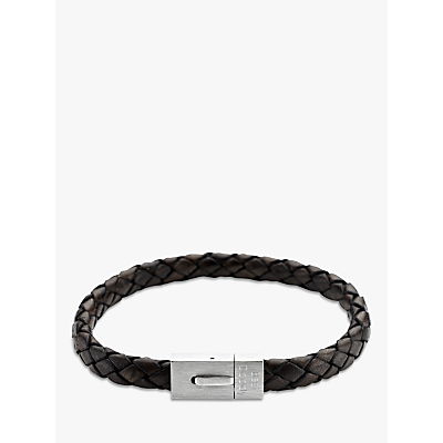 Under the Rose Personalised Men's Leather Bracelet, 20cm