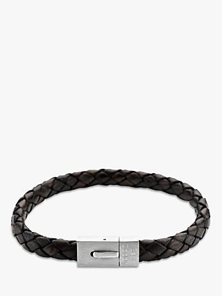 Under the Rose Personalised Men's Leather Bracelet, 20cm