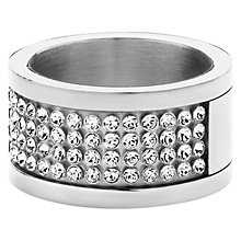 Buy Dyrberg/Kern Emily Swarovski CrystaI Ring, Silver Online at johnlewis.com