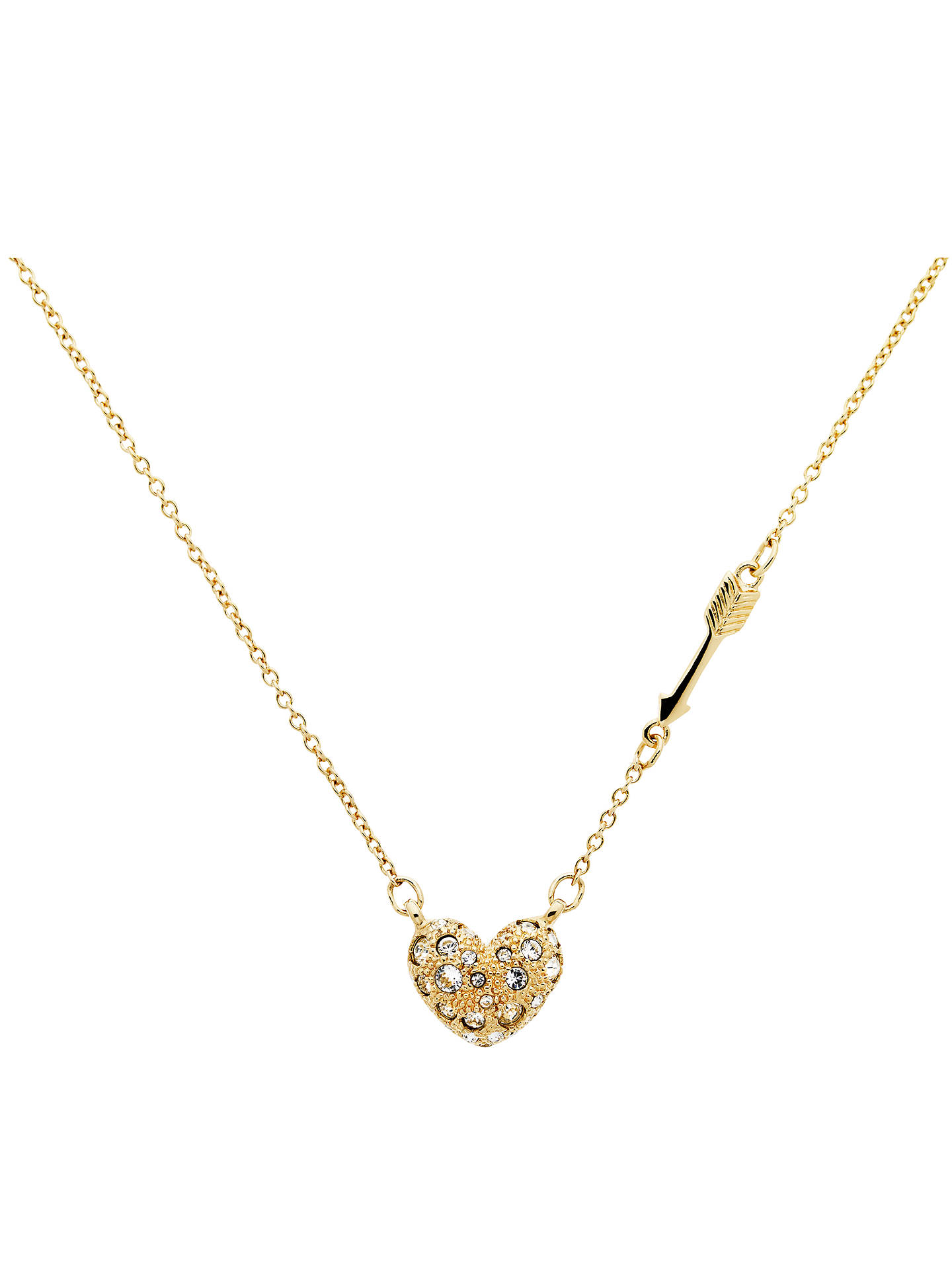 01280f3875454e Buy Cachet Cupid Arrow and Swarovski Crystal Heart Necklace