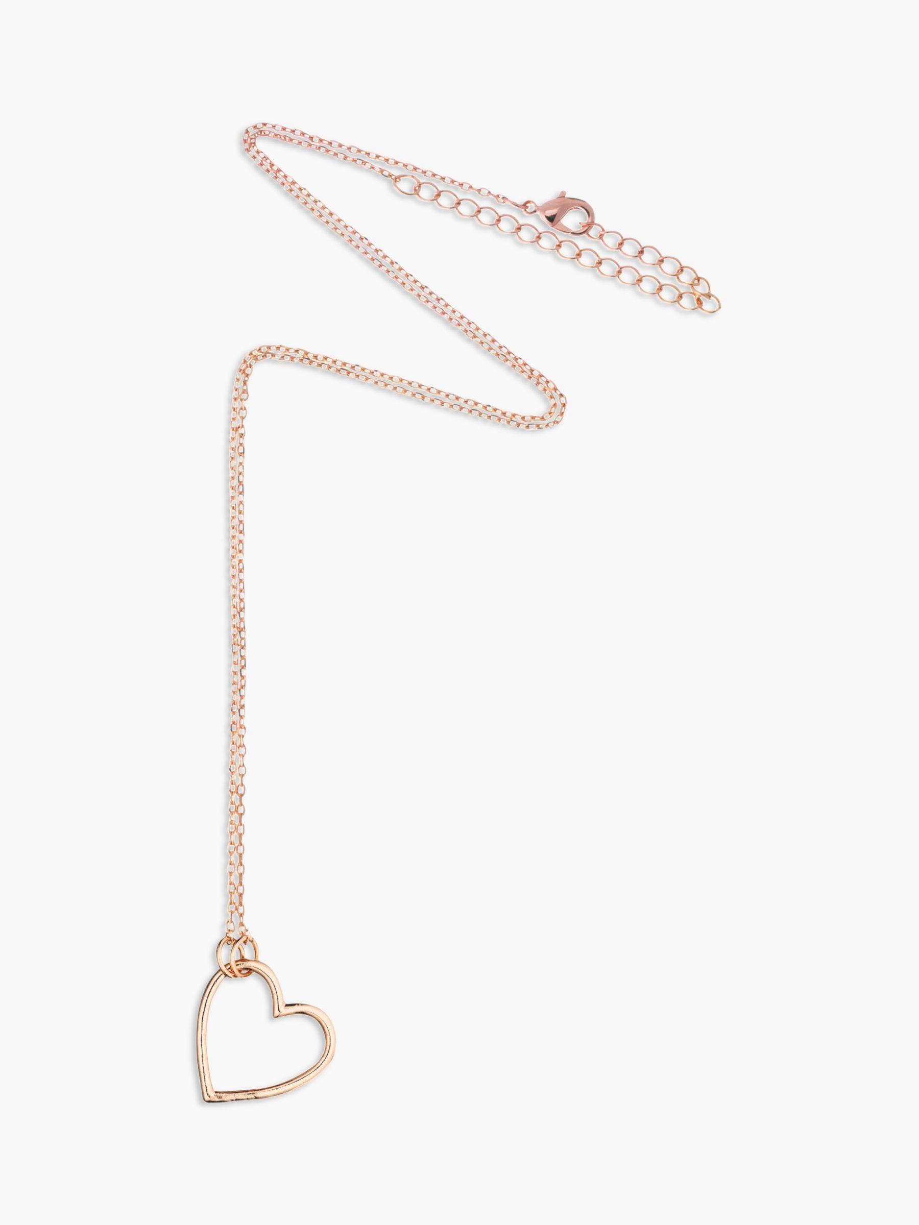 Estella Bartlett Estella Bartlett Open Heart Pendant Necklace, Gold